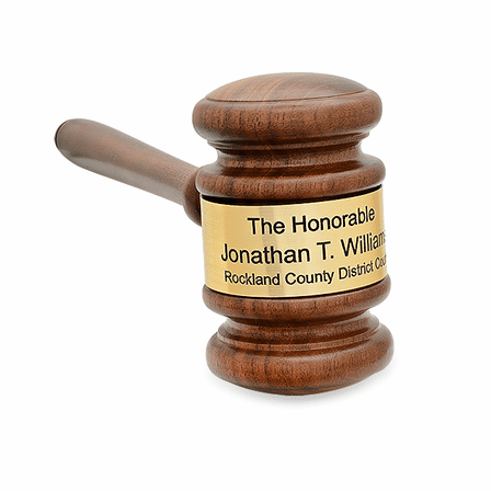 The Judge Personalized Wooden Gavel With Gold Band