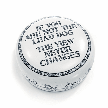 The Lead Dog Desktop Paperweight