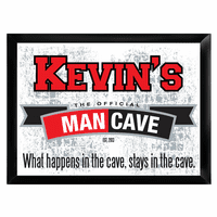 The Official Man Cave Pub Sign - Free Personalization