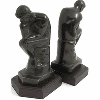 The Thinker Solid Brass Bookends