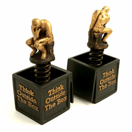Think Outside The Box Bookends