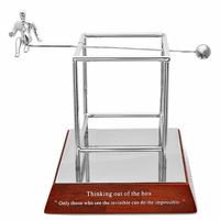 Thinking out of the box - Inspirational Desk Sculpture