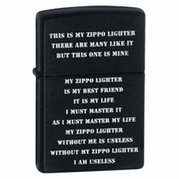 This Is My Zippo Lighter - ID# 24710 - Discontinued