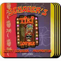 Tiki Lounge Coaster Set - Free Personalization