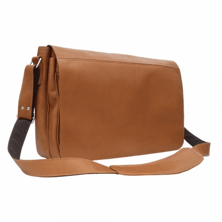 Traditional Messenger Bag by Piel Leather - Free Personalization