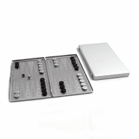 Travel Backgammon Set In Stainless Steel - Discontinued