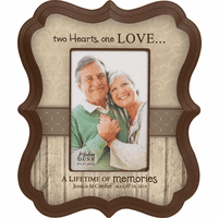 "Two Hearts Personalized  4"" x 6"" Picture Frame - Discontinued"