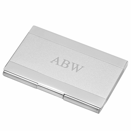 Two Tone Business Card Holder With Logo Option
