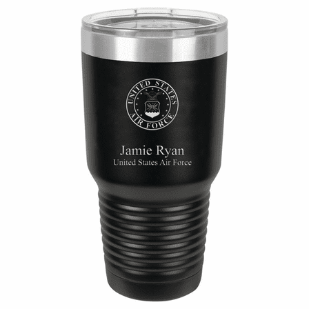US Air Force Emblem Personalized 30 Ounce Tumbler