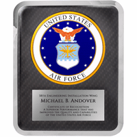 US Air Force Personalized Plaque