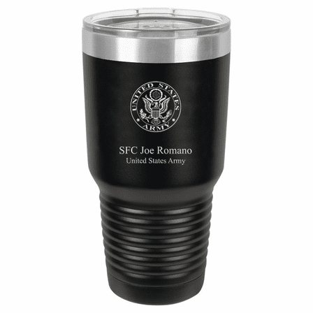 US Army Emblem Personalized 30 Ounce Tumbler