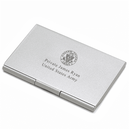 us army personalized business card case - Personalized Business Card Case