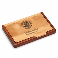US Army Personalized Business Card Holder