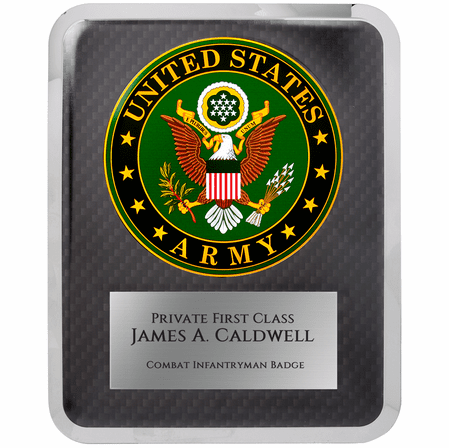 US Army Personalized Plaque