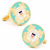 US Coast Guard Gold Plated Cufflinks