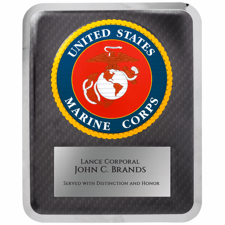 US Marine Corps Personalized Plaque