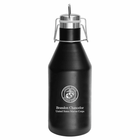 US Marines Emblem Personalized 64 Ounce Growler