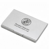 US Marines Engraved Business Card Case