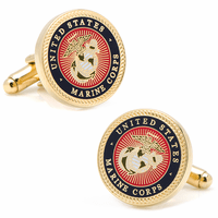 US Marines Gold Plated Cufflinks