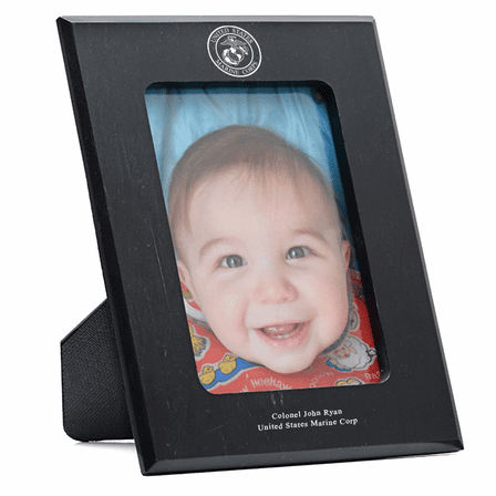 Us Marines Personalized Marble Photo Frame Executive Gift Shoppe