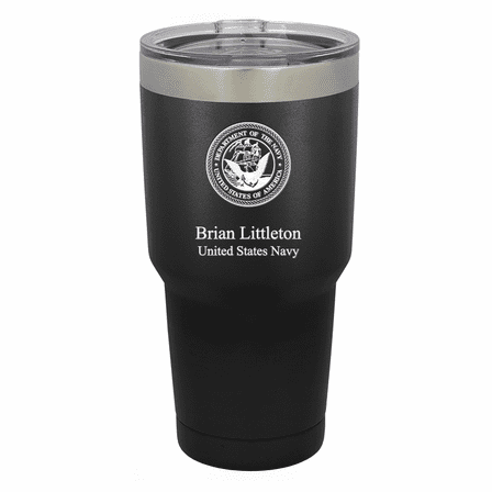 US Navy Emblem Personalized 30 Ounce Tumbler