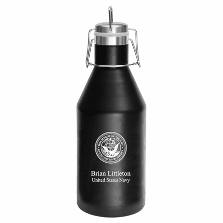 US Navy Emblem Personalized 64 Ounce Growler