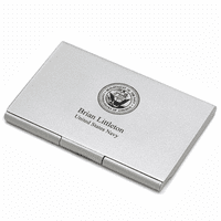 US Navy Engraved Business Card Case
