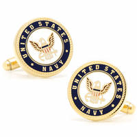 US Navy Gold Plated Cufflinks