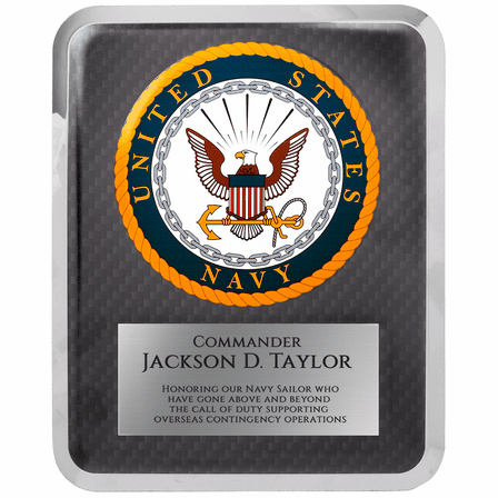 US Navy Personalized Plaque