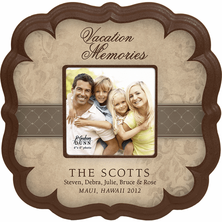 "Vacation Memories Personalized  4"" x 4"" Picture Frame"