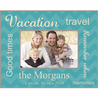 "Vacation Memories Personalized 4"" x 6"" Picture Frame"