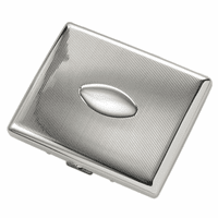 Vertical Stripe Engravable Cigarette Case for Kings and 100s
