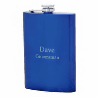 Vibrant Blue Personalized Flask