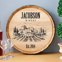 Vineyard Personalized Wine Barrel Sign - Discontinued