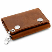 Vintage Brown Leather Trifold Wallet