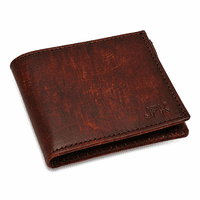 Vintage Brown Men's Bifold Wallet