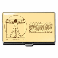 Vitruvian Man Business Card Case