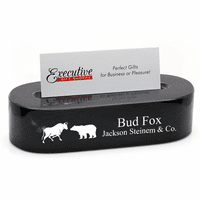 Wall Street Bull & Bear Desktop Business Card Holder