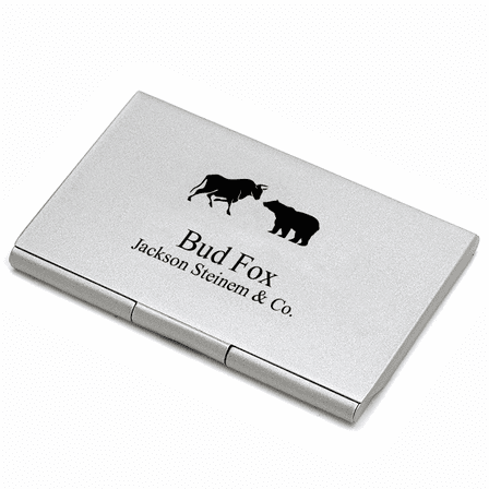 Wall Street Engraved Business Card Case