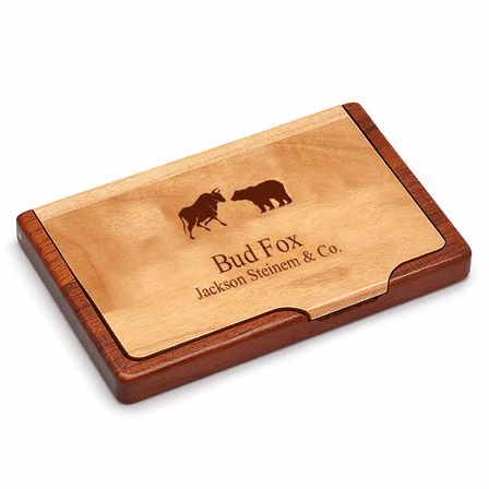 Wall Street Personalized Marble Desktop Business Card Holder