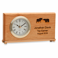 Wall Street Symbol Desk Clock