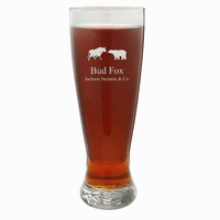 Wall Street Theme Personalized 22 Ounce Grand Pilsner Glass