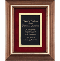 Walnut Frame With Black & Gold Engraving Plate
