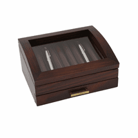 Walnut Wood 19 Pen Box