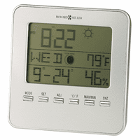 Weather View Desk Clock by Howard Miller