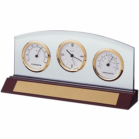 Weston Executive Collection  Desk Clock by Bulova