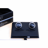 White Round Cab Collection Cufflinks & Studs Set by Tateossian - Discontinued