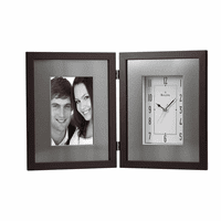 Winfield Espresso Picture Frame Clock