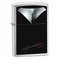 Woman's Bust Decolletage Brushed Chrome  Zippo Lighter - ID# 28273 - Discontinued