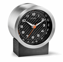 Workplace Collection Carbon Fiber & Wood Desk Clock by Citizen